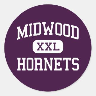 Midwood - Hornets - High - Brooklyn New York Round Sticker
