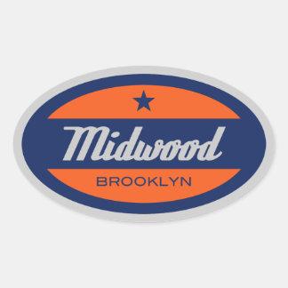 Midwood Oval Sticker