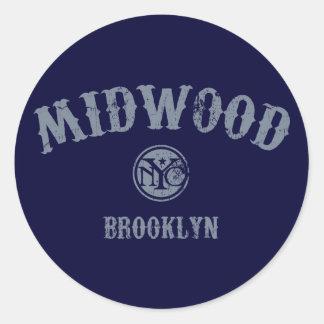 Midwood Round Sticker