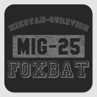 MIG-25 Foxbat Square Sticker