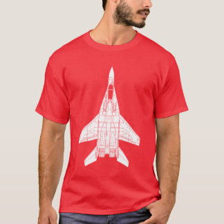 Mig-29 Fulcrum Russian Jet Fighter T-Shirt