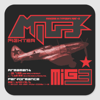 MiG-3 Square Sticker