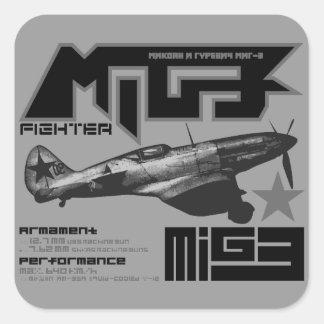 MiG-3 Square Stickers