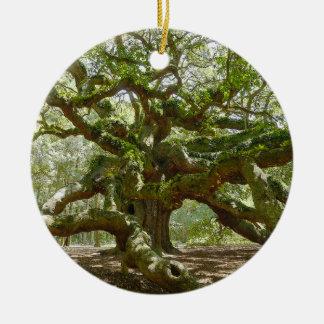 Mighty Angel Oak Christmas Ornament