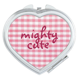 Mighty Cute kawaii heart shaped compact mirror