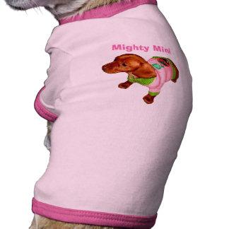 Mighty Mini Dachshund Apparel for Dogs Dog Tshirt