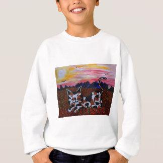 Mighty Moggy in Poppy field Sweatshirt