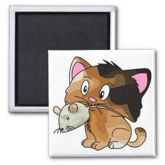Mighty Mouse Catcher Square Magnet