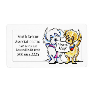 Mighty Mutts Adoption Company Personalized Shipping Label