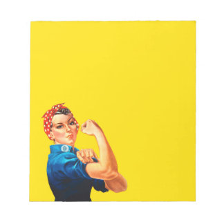 Mighty Rosie The Riveter Retro Style Notepad