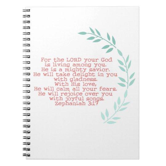 """""""mighty saviour""""  zephaniah 3:17 journal"""