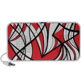 Migliore Abstract Expression Red White Black Speakers