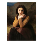 Mignon, Portrait of A Girls Reflective Beauty Post Card