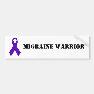 Migraine Warrior - bumper sticker