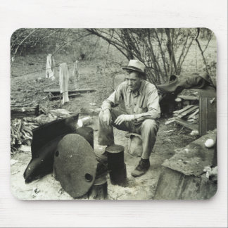 Migrant at campfire - 1939. mouse pad