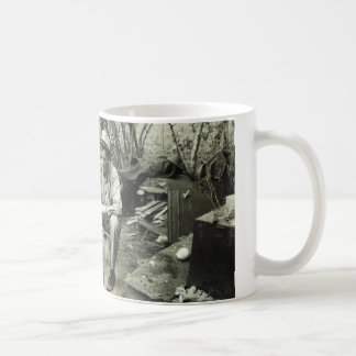 Migrant at campfire - 1939. mug