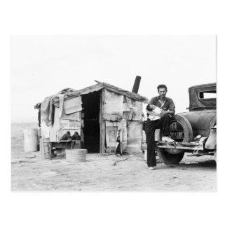 Migrant home 1937. postcard