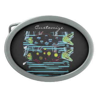 migrating fish any color Thunder_Cove Belt Buckles