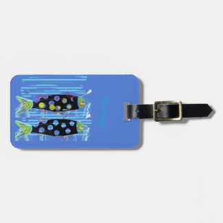 migrating fish Thunder_Cove any color Luggage Tag