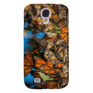 Migrating monarch butterflies cling to leaves galaxy s4 case
