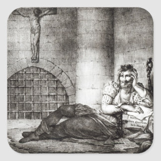 Miguel de Cervantes Saavedra Square Sticker
