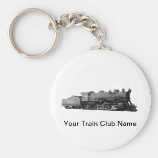 Mikado 2-8-2 Vintage Steam Engine Train Basic Round Button Key Ring
