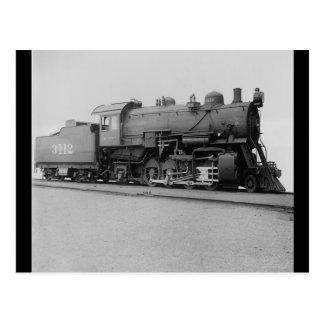 Mikado 2-8-2 Vintage Steam Engine Train Postcard