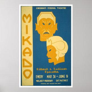 Mikado Gilbert Sullivan 1939 WPA Poster