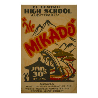 Mikado Philarmonic 1938 Vintage WPA Poster