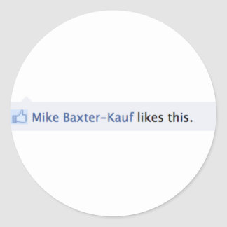Mike Baxter Kauf Likes This-Stickers Classic Round Sticker