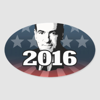 MIKE HUCKABEE 2016 CANDIDATE OVAL STICKER