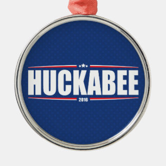 Mike Huckabee 2016 (Stars & Stripes - Blue) Silver-Colored Round Decoration