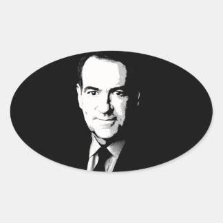 Mike Huckabee Face Oval Sticker