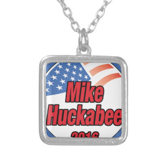 Mike Huckabee for President in 2016 Square Pendant Necklace