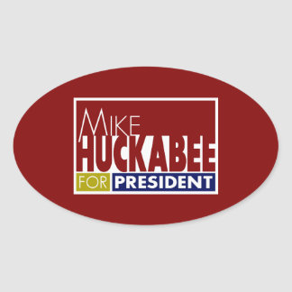 Mike Huckabee for President V1 Oval Sticker