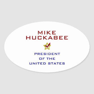 Mike Huckabee for President V2 USA Oval Sticker