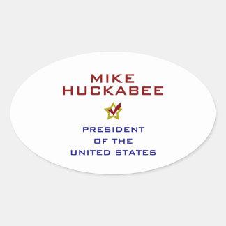 Mike Huckabee for President V2 USA Oval Sticker