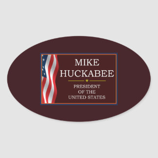 Mike Huckabee for President V3 Oval Sticker
