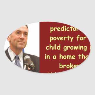 Mike Huckabee quote Oval Sticker