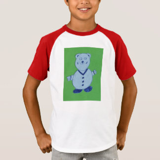 Mike Kids' Augusta Retro Striped Sleeve T-Shirt