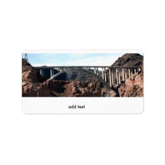 Mike O'Callaghan-Pat Tillman Memorial Bridge Address Label