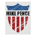 Mike Pence Shield Print