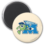 Mike with Monsters U Flag Magnets