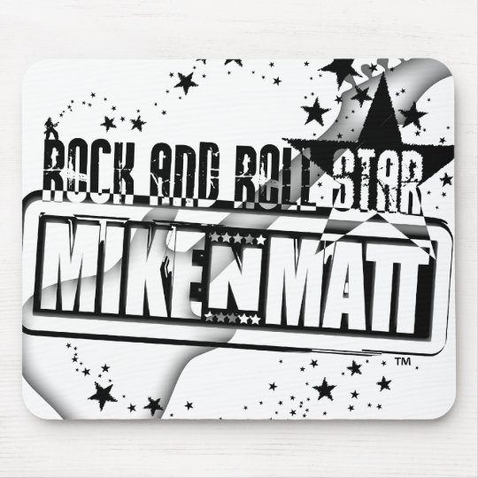 MikeNMatt Rock and Roll Star Mouse Pad revised