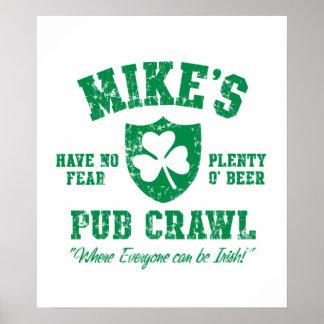 Mike's Irish Pub Crawl Poster