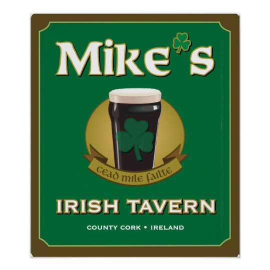 Mike's Irish Tavern Poster