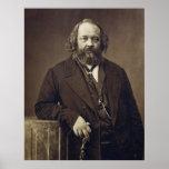 Mikhail Bakunin Russian Social Anarchist by Nadar Poster
