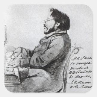 Mikhail Glinka, 1853 Square Stickers