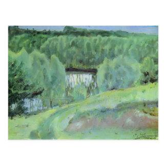 Mikhail Nesterov- Pond Postcard