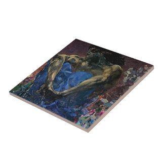 Mikhail Vrubel- Seated Demon Ceramic Tiles